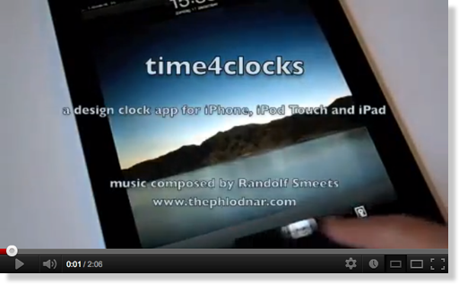 iPad time4clocks - music by Randolf Smeets